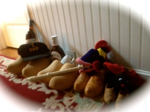 St. Nicholas left wooden shoes for me, Momma, Daddy and baby Signy and Arlik.