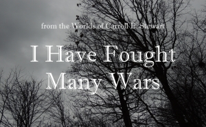 I have fought many wars banner 1
