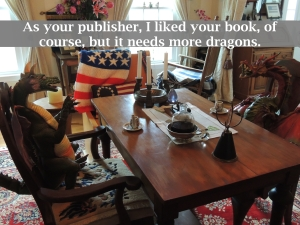 as your publisher...