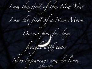 New moon for 2014