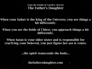 when your father is the king of the universe.