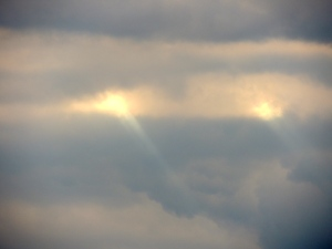 clouds with light eyes