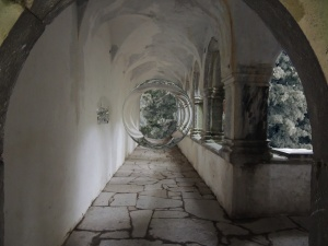 abbey cloister with portal