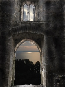 abbey door and two windows with water view 2