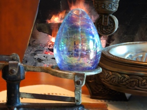 dragon egg with fireplace