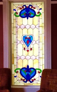 Stained glass hearts